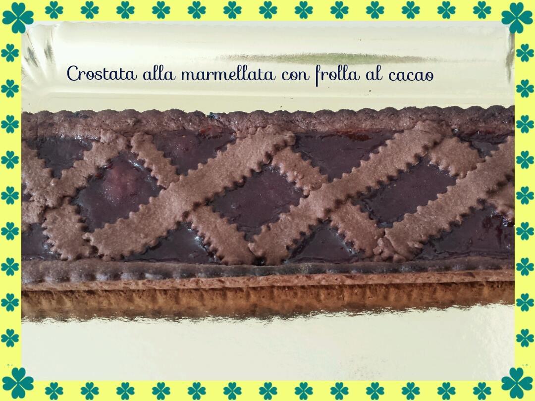 crostata alla marmellata con frolla al cacao