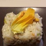 risotto vongole e fiori di zucca